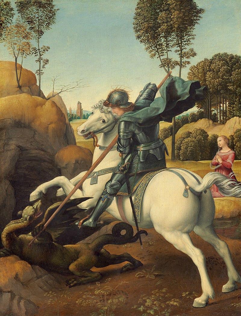C'est la Saint Georges 800px-Raphael_-_Saint_George_and_the_Dragon_-_Google_Art_Project