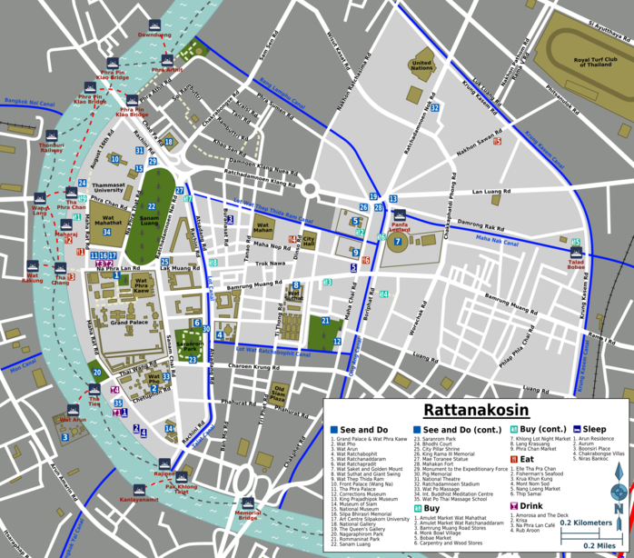 Map of Bangkok/Rattanakosin