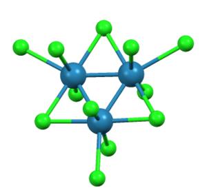 Trirhenium nonachloride - Image: Re 3Cl 9