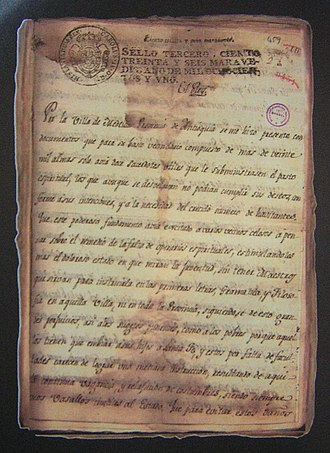 University of Antioquia - Royal Decree of February 9, 1801