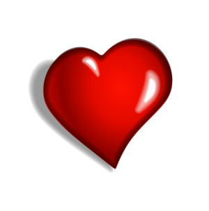 English: Red heart clip art