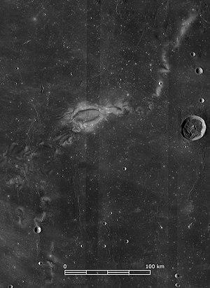 Reiner Gamma - Lunar Reconnaissance Orbiter Wide Angle Camera image of Reiner Gamma.