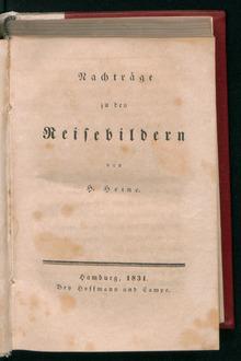 Reisebilder, 1831 (Source: Wikimedia)