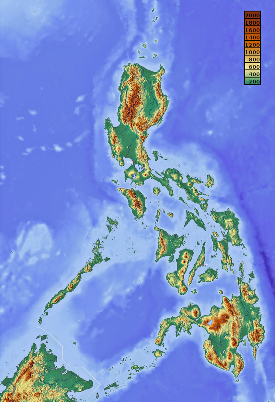 Geography of the philippines wikipedia relief map of the philippinesg gumiabroncs Image collections