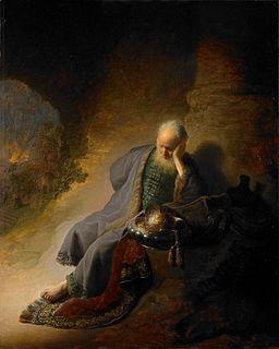 Rembrandt Jeremiah lamenting