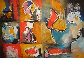 Remember about music1987 Oil on Paper 62cmx86cm.jpg