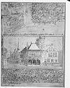 reproductie van tekening door p.saenredam 18e eeuw. copie verzameling gemeente archief a