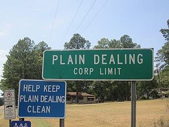 Plain Dealing, Louisiana - Image: Revised Plain Dealing, LA, sign IMG 5163