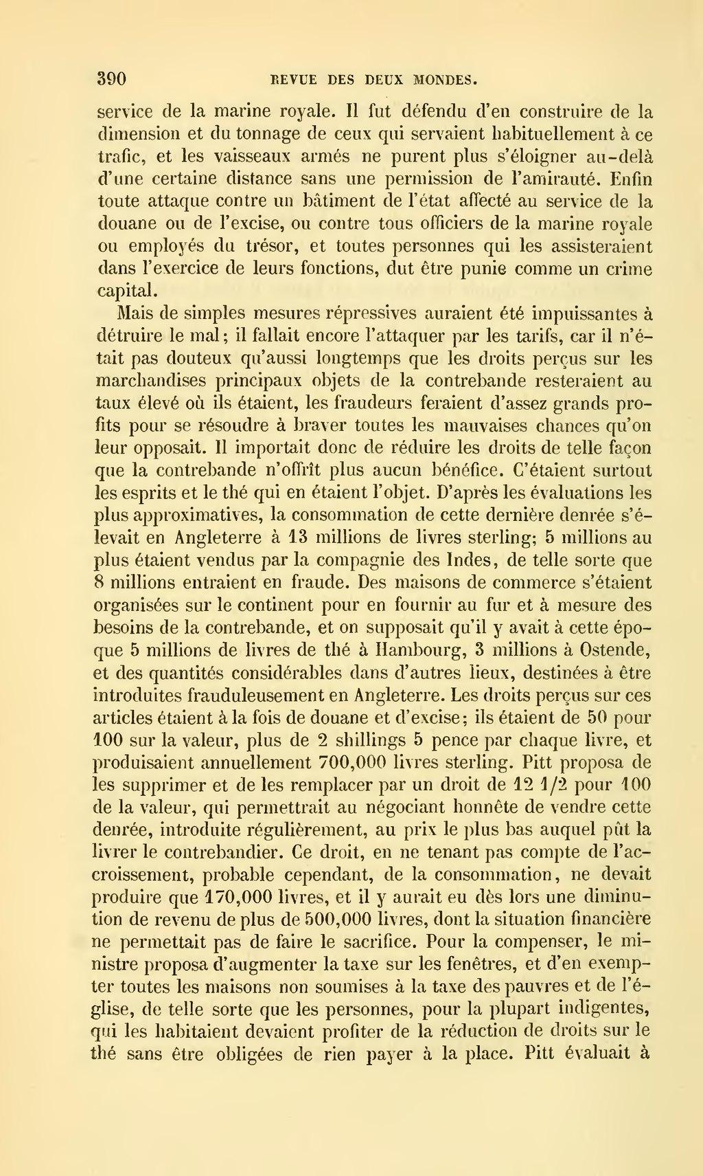Page revue des deux mondes 1864 tome - Plafond pour ne pas payer la taxe d habitation ...