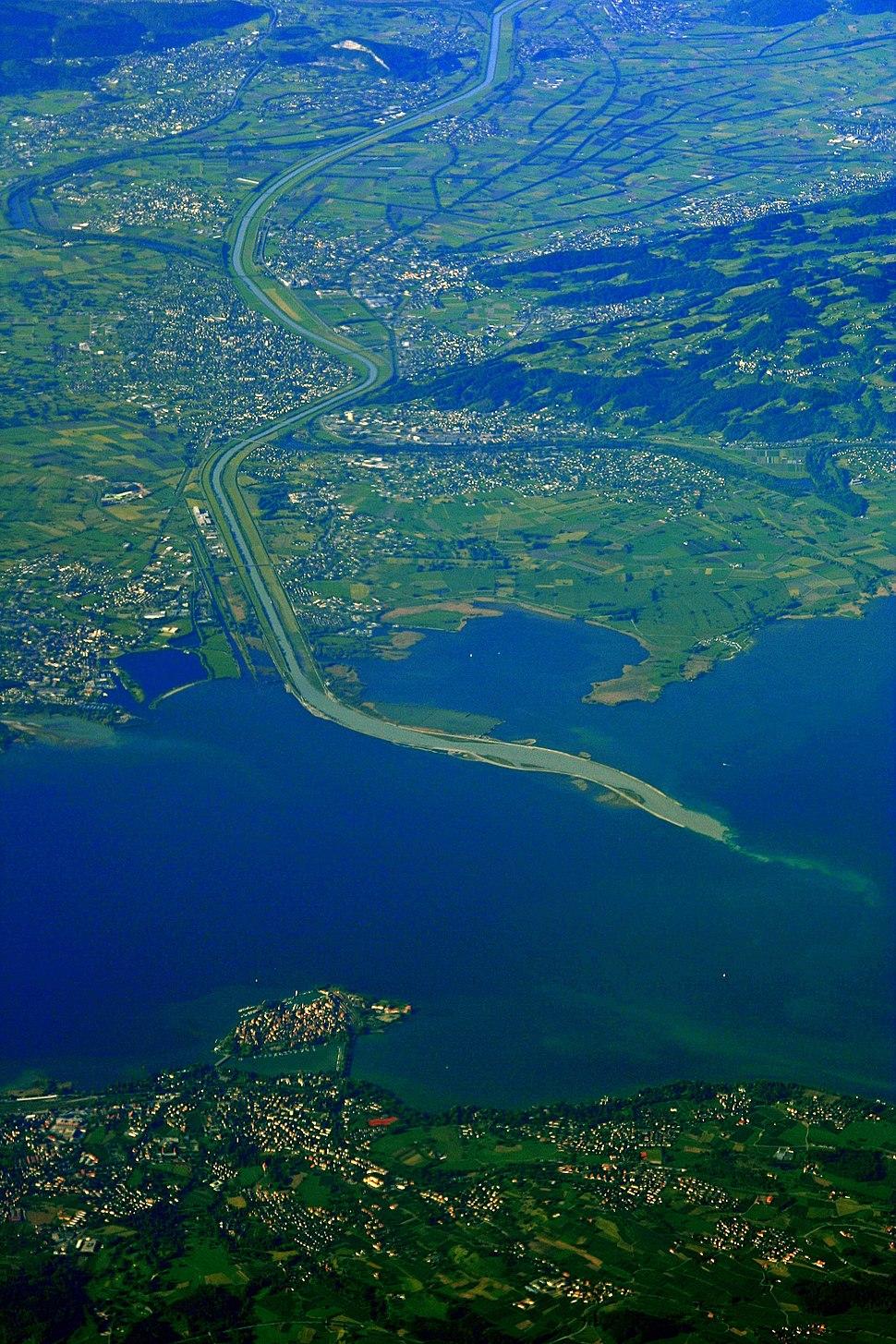 Rheinmuendung im Bodensee