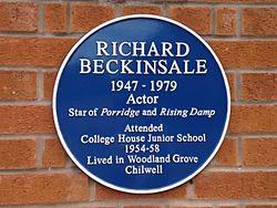 Richard beckinsale plaque