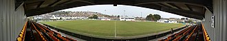 Carmarthen Town A.F.C. - A panoramic view from the Clay Shaw Butler Stand.