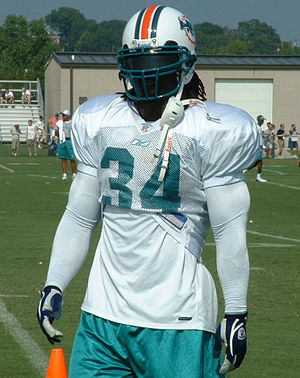 Ricky Williams - Williams during his first stint with the Dolphins.