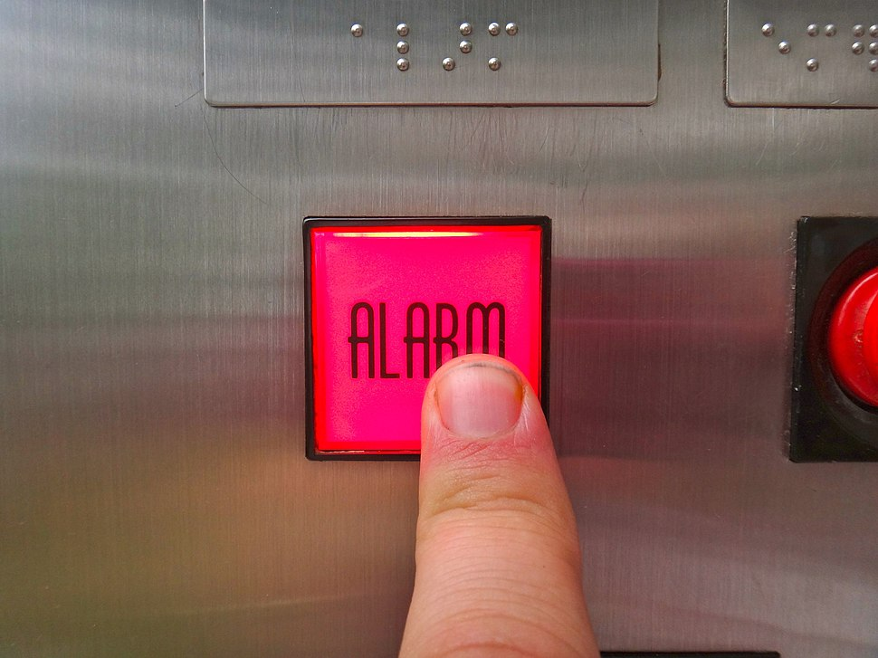 Ringing the elevator alarm