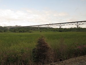 Rip Van Winkle Bridge - The bridge viewed from the ''Adirondack'' Amtrak train