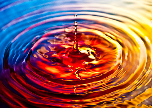 Ripple effect on water