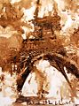 Ritók Lajos diópác akvarell eiffel torony.jpg