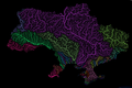 River basins of Ukraine in rainbow colours.png