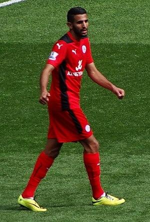 Riyad Mahrez - Mahrez playing for Leicester in 2014