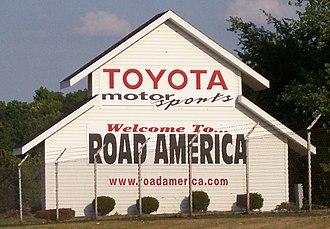 Road America - Image: Road America Sign 070707
