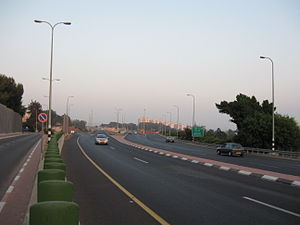 Route 531 (Israel) - Route 531 just before its current western end.