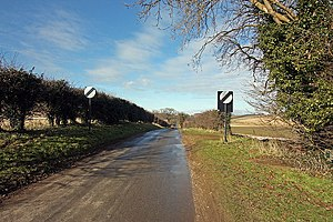 Fring, Norfolk - Road leading off from All Saints Church, Fring