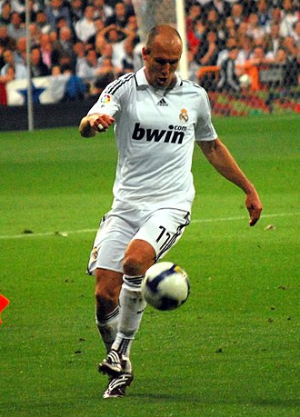 Arjen Robben - Robben playing for Real Madrid