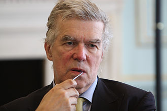 Robert Cooper (strategist) - Image: Robert Cooper at the Europe and the world in 2023 Jubilee Dialogue event in London