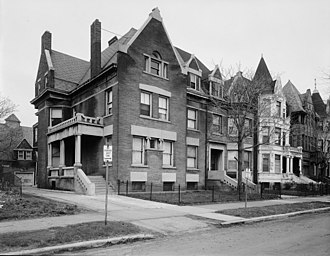 National Register of Historic Places listings in South Side Chicago - Image: Robert S. Abbott House, 4742 Martin Luther King Drive, Chicago Cook County, Illinois