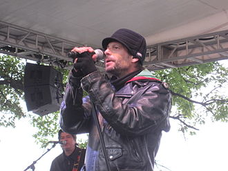 Robin Wilson (musician) - Wilson performing with the Gin Blossoms in 2010.