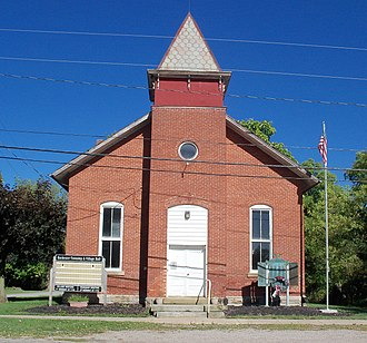 Rochester, Ohio - The shared town hall and township hall for Rochester and Rochester Township