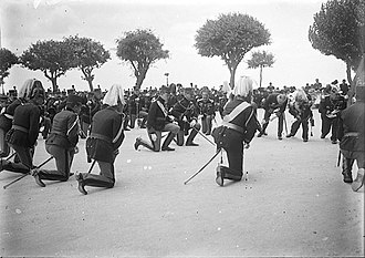 Genuflection - Manuel II of Portugal during Missa de Campanha, c. 1910