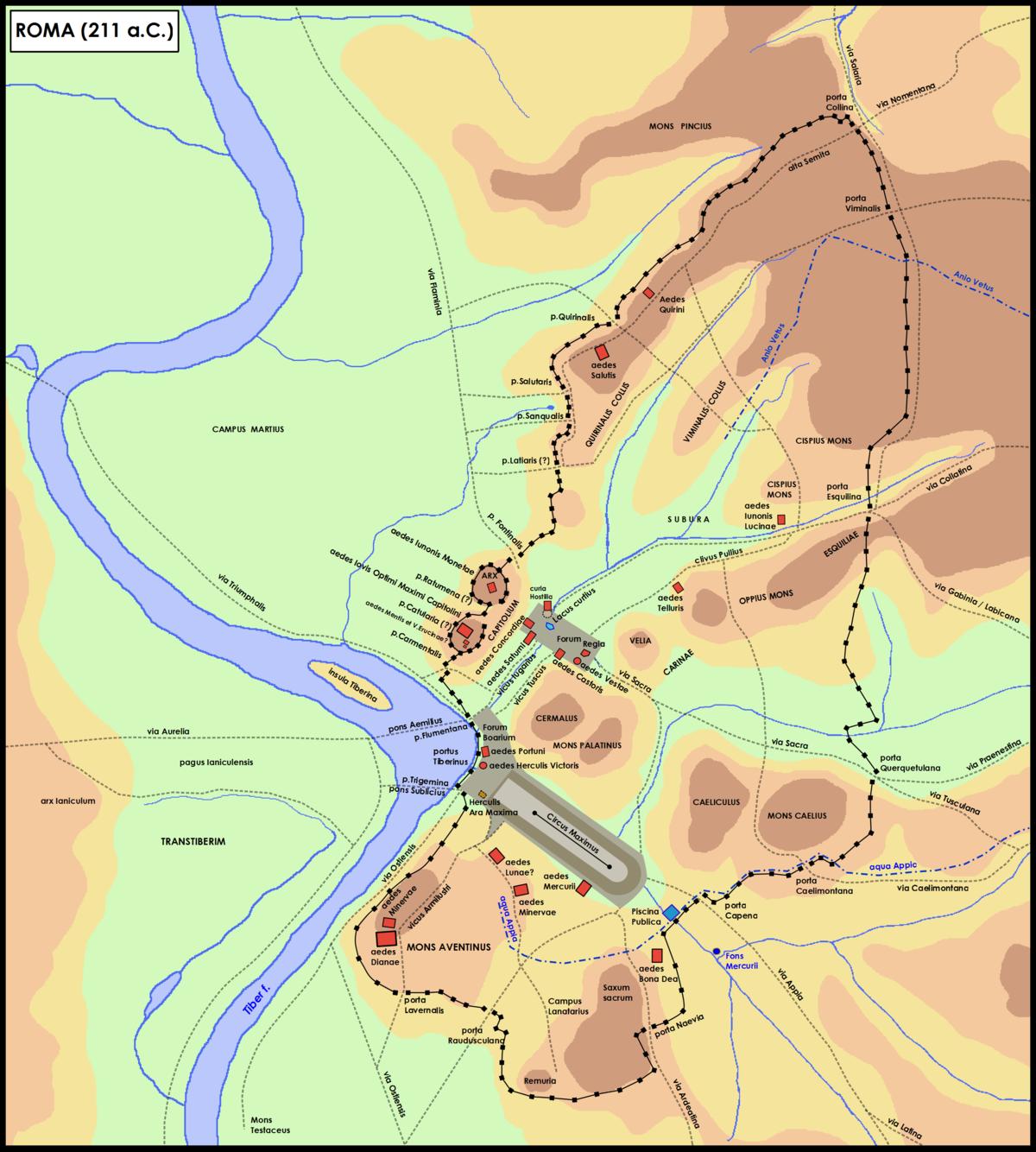 Tempio della bona dea wikipedia for Mappa della costruzione di casa