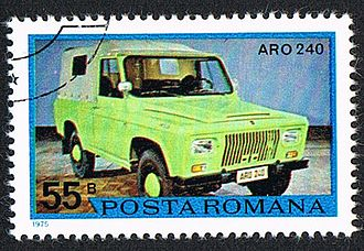 ARO 24 Series - Romanian stamp from 1975 with ARO 240