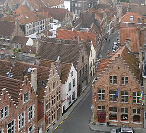 The roofs of Bruges (Belgium)