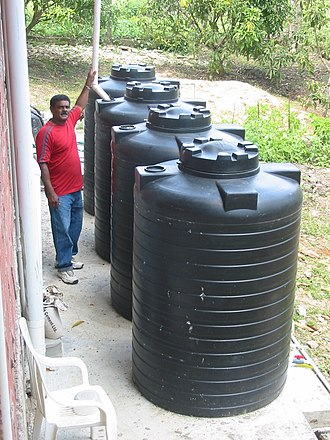 Farm water - A rooftop rainwater harvesting system in Trinidad, 2003