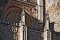 Rosetón gótico de la fachada del Real Monasterio de Santa María de Guadalupe.JPG