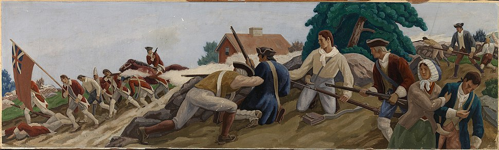 Ross Moffett- A Skirmish Between British and Colonists near Somerville in Revolutionary Times -1980.133.3 - Smithsonian American Art Museum