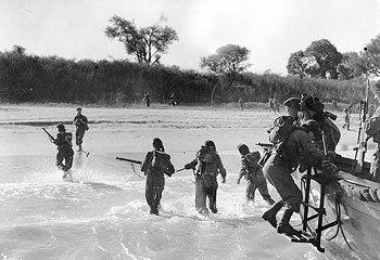 Royal Marines land Ramree Burma