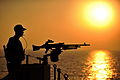 Royal Navy Lookout Manning a GPMG on HMS Westminster MOD 45156550.jpg