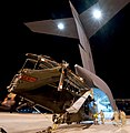 Royal Navy Sea King Mk 4 Helicopter is Loaded onto RAF C17 Transport Aircraft in Afghanistan MOD 45153323.jpg