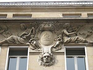 Société des auteurs, compositeurs et éditeurs de musique - Façade of 10 Rue Chaptal, first home of SACEM