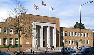 Rugby, Warwickshire - Rugby Town Hall - The headquarters of Rugby Borough Council