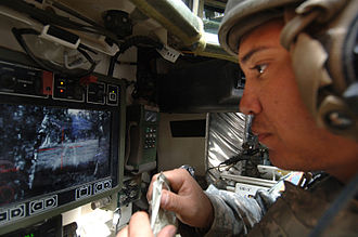 IAV Stryker - Remote weapon system screen