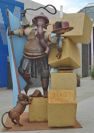 """Destroyer of Obstacles,"" by Ryan McCourt, was ordered removed from public display by Edmonton Mayor Stephen Mandel in 2007 RyanMcCourtSculpture.jpg"