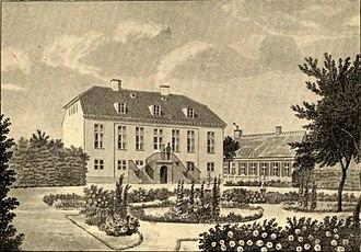 Bernstorffsvej - Rygaard painted by Heinrich Gustav Ferdinand Holm in c. 1840