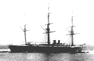 Australia–Russia relations - The Russian corvette Rynda in Sydney in 1888.