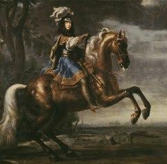 Ryttarporträtt av Karl XI (?)