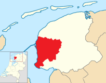 Súdwest-Fryslân locator map municipality NL 2018.png