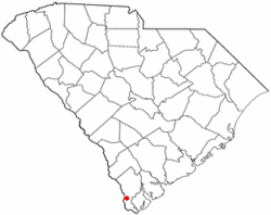 Location in South Carolina
